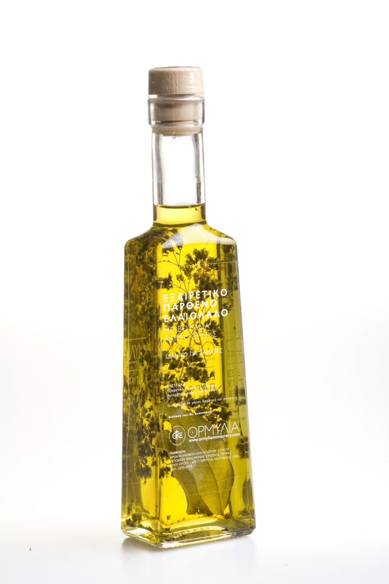 Εξαιρετικό Παρθένο Ελαιόλαδο με Βότανα Αγίου Όρους – Ορμύλια 250ml